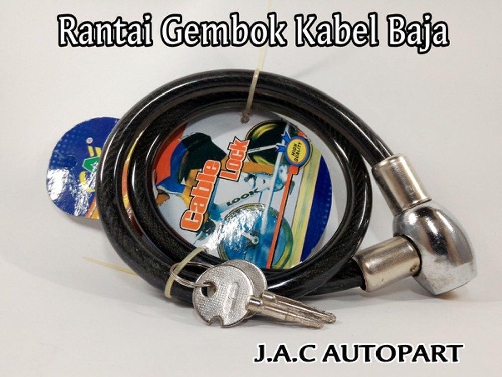 Rantai / Kalung Baja Gembok Roda / Pagar