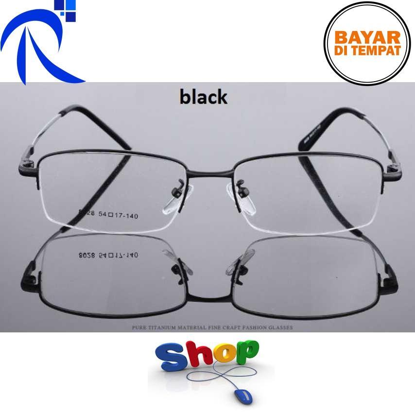 Rimas Kacamata Lensa Bening Memory Alloy Frame - Black / Hitam Kaca Mata Lentur Aman Nyaman Berkualitas FREE ONGKIR
