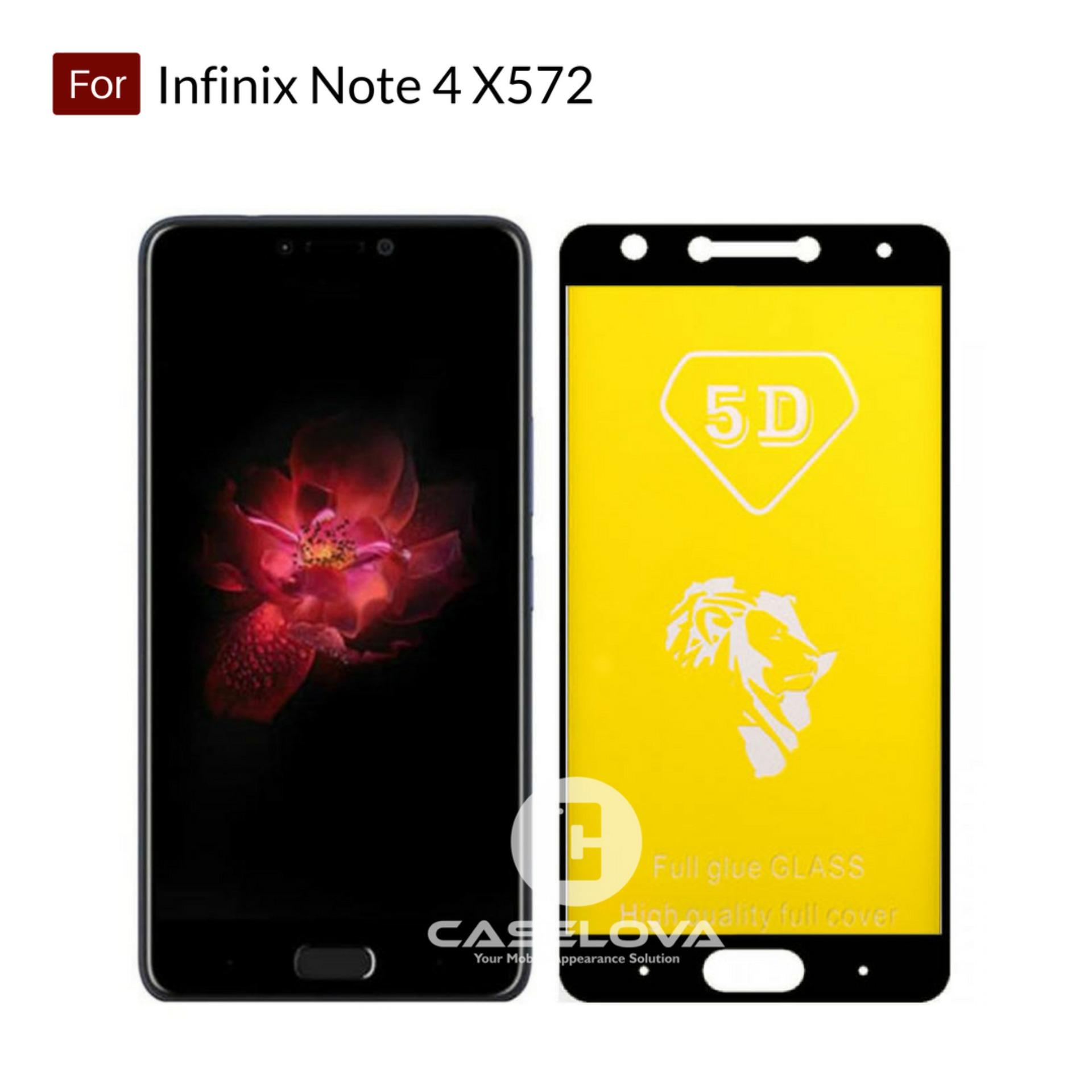 Caselova Premium Full Cover Tempered Glass 5D Round Curved Edge For Infinix Note 4 X572 -
