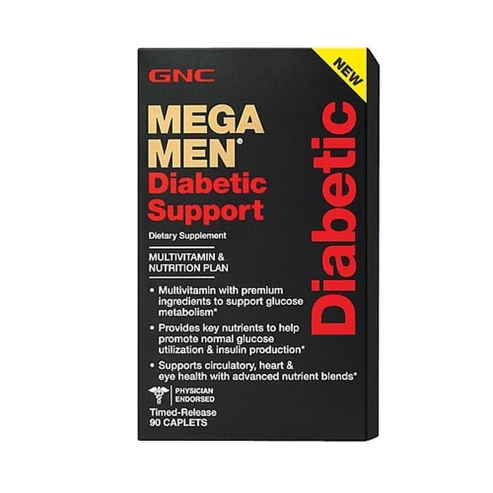 GNC Mega Men Diabetic Support - 90 Caps