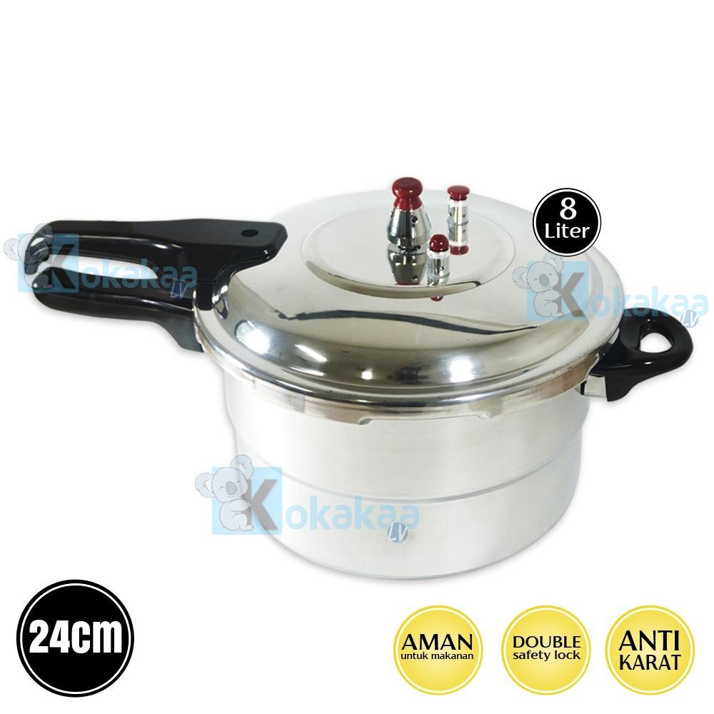 Omicko Panci Presto 24 cm Capacity 8 Liter Pressure Cooker