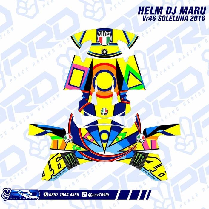 Stiker Helm KYT DJ Maru VR46 Soleluna 2016