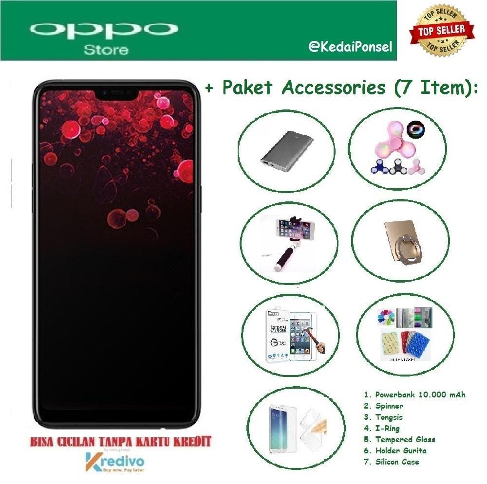 OPPO F7 [4/64GB] + Paket Accessories (7 Item)