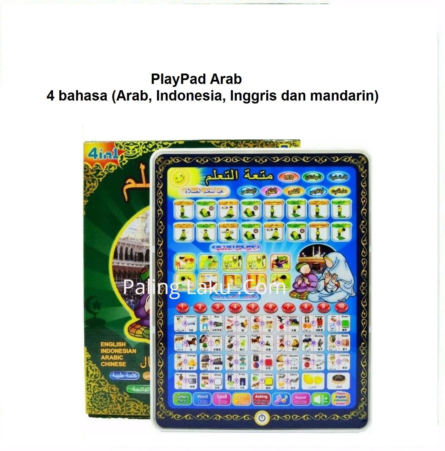 Paling Laku Ipad Bahasa Arab/ Playpad Arab Muslim 4 Bahasa (ukuran besar) / mainan edukasi / mainan