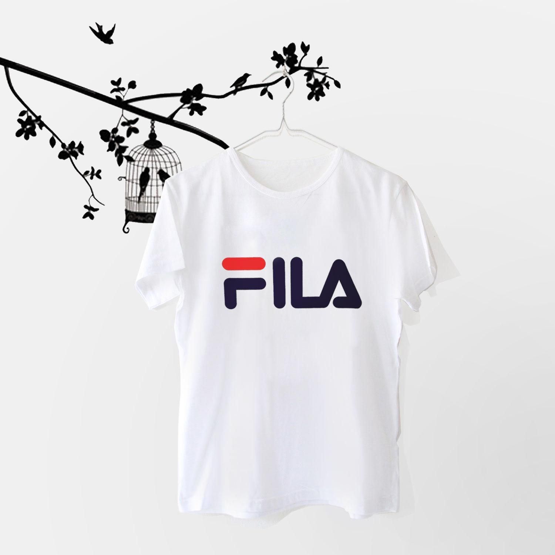 MichelleStore Tshirt / Kaos Wanita / Baju Atasan FILA Best Seller - Putih