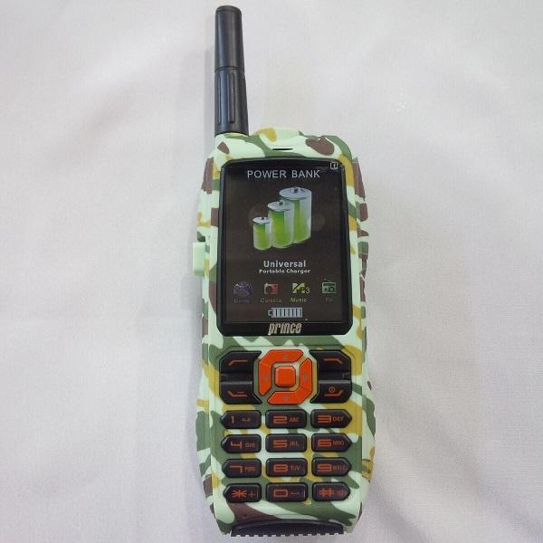 HANDPHONE PRINCE PC9000 ARMY 3 GSM STANDBY LCD 2.4 INCH CAMERA 3MP POWERBANK PHONE 10000MAH BIG