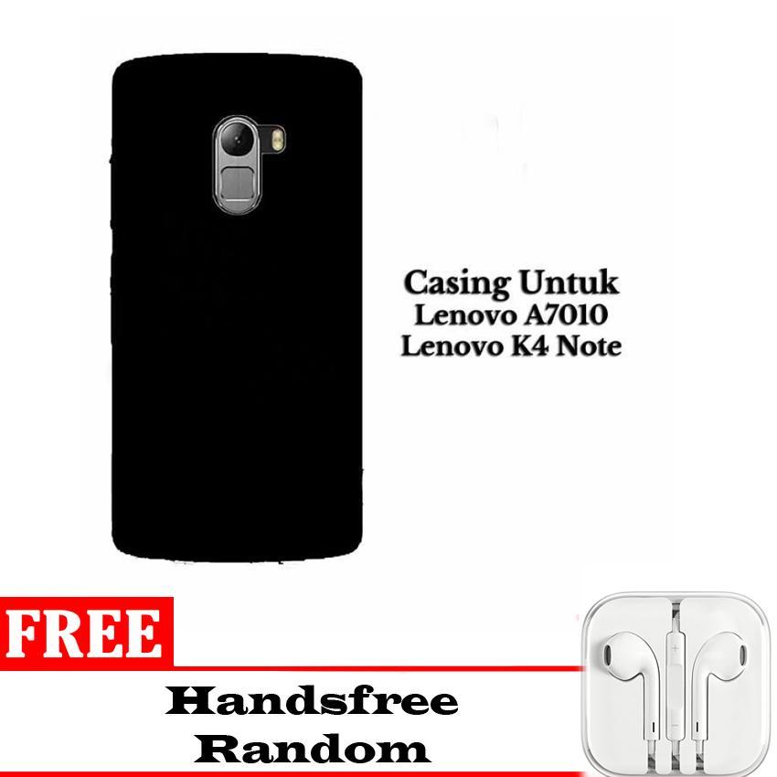 Case Slim Black Matte Softcase Untuk Lenovo A7010/K4 NOTE - Doff + Free Handsfree iphone