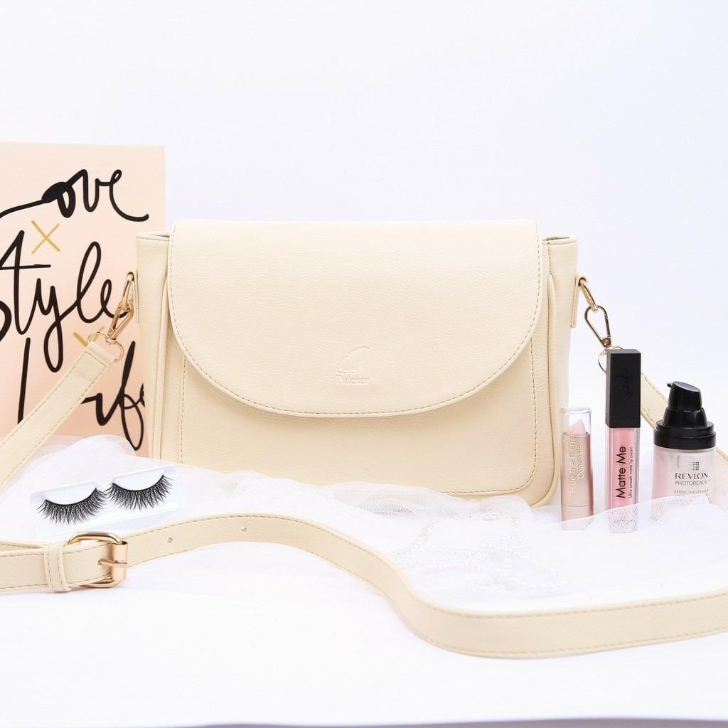 Sling Bag Wanita – Clutch Bag – Tas Fashion Selempang Kecil – Tas Samping  Jalan – Pulcher Queen Vanilla 7f915344f4