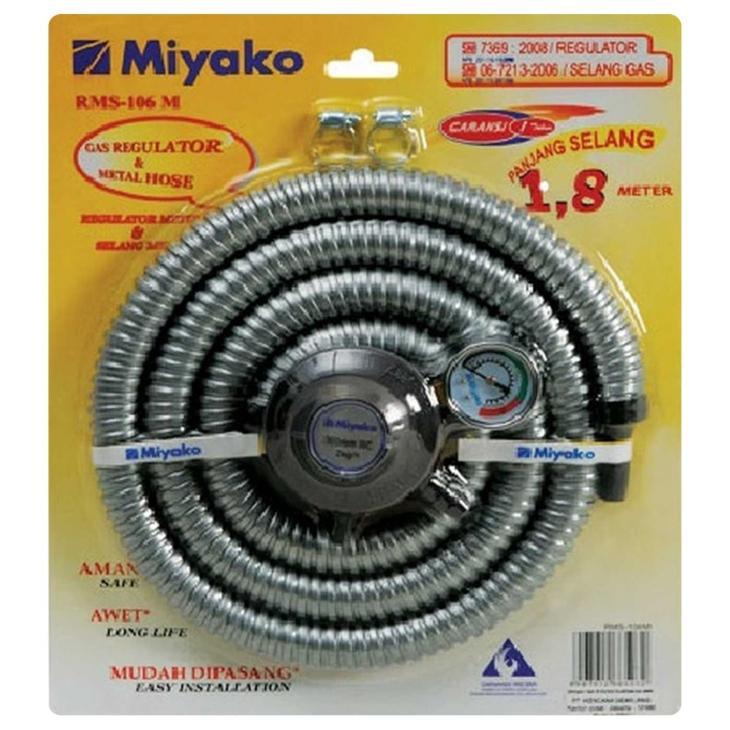 Miyako Paket Selang Regulator Gas Rms-106m - Silver By Gogo Grosir.