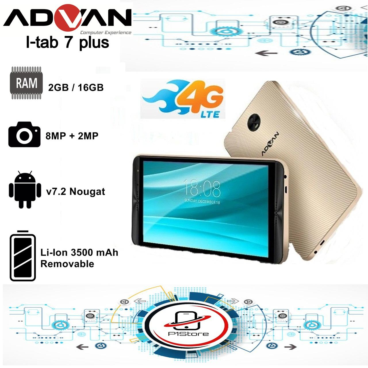 """Advan iTAB I7 PLUS - 4G/LTE - 7"""" - RAM 2GB / ROM"""