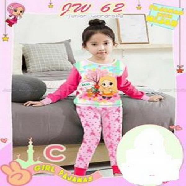 baju anak baju tidur anak perempuan piyama jw 62 C frozen  import