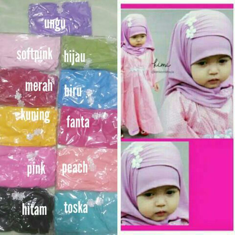 jilbab bayi kerut melati- jilbab anak 0-4 tahun - hijab bayi - khimar anak- kerudung bayi dan anak di lapak AF ONLINE 19yuniarti