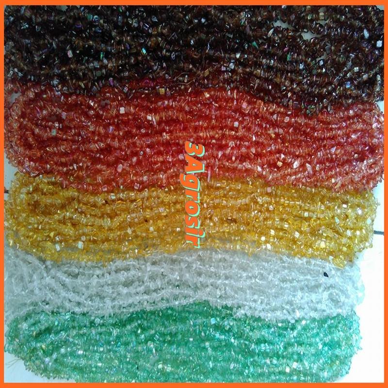 Ready Batu Pecah Kaca Harga Per String Pusat Manik-Manik Kaca Jombang