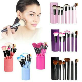 Flash Sale Makeup Brush 12 Pcs Dengan Tabung Penyimpanan Impory Haigh Quality thumbnail