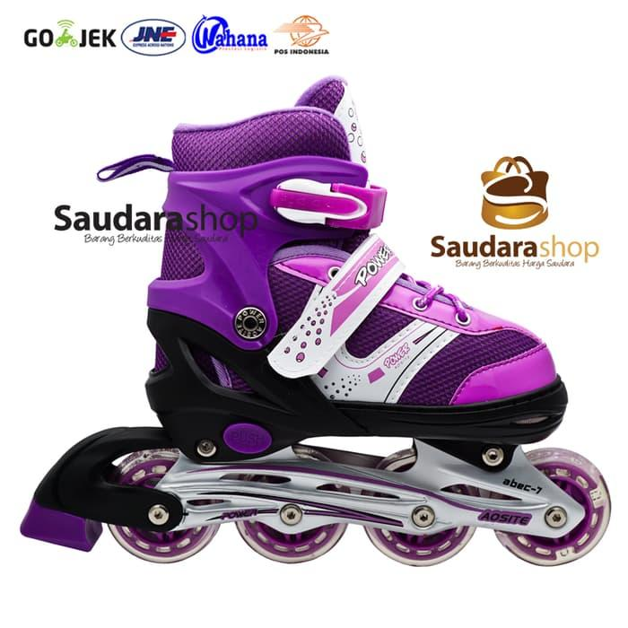 HARGA SPESIAL!!! sepaturoda / Sepatu Roda Murah / Sepaturoda POWER SUPER jait UNGU - JQsp3l