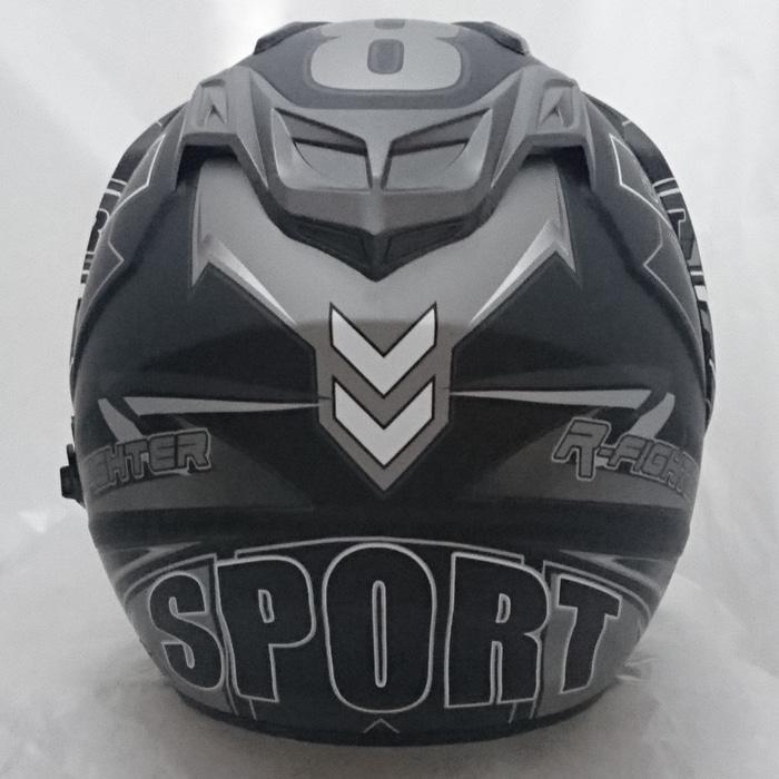Helm DMN 2 kaca (double visor) Sport B-doff abu || helm kyt / helm bogo / helm full face / helm ink / helm sepeda /helm motor/helm nhk/helm retro/helm anak/helm gm