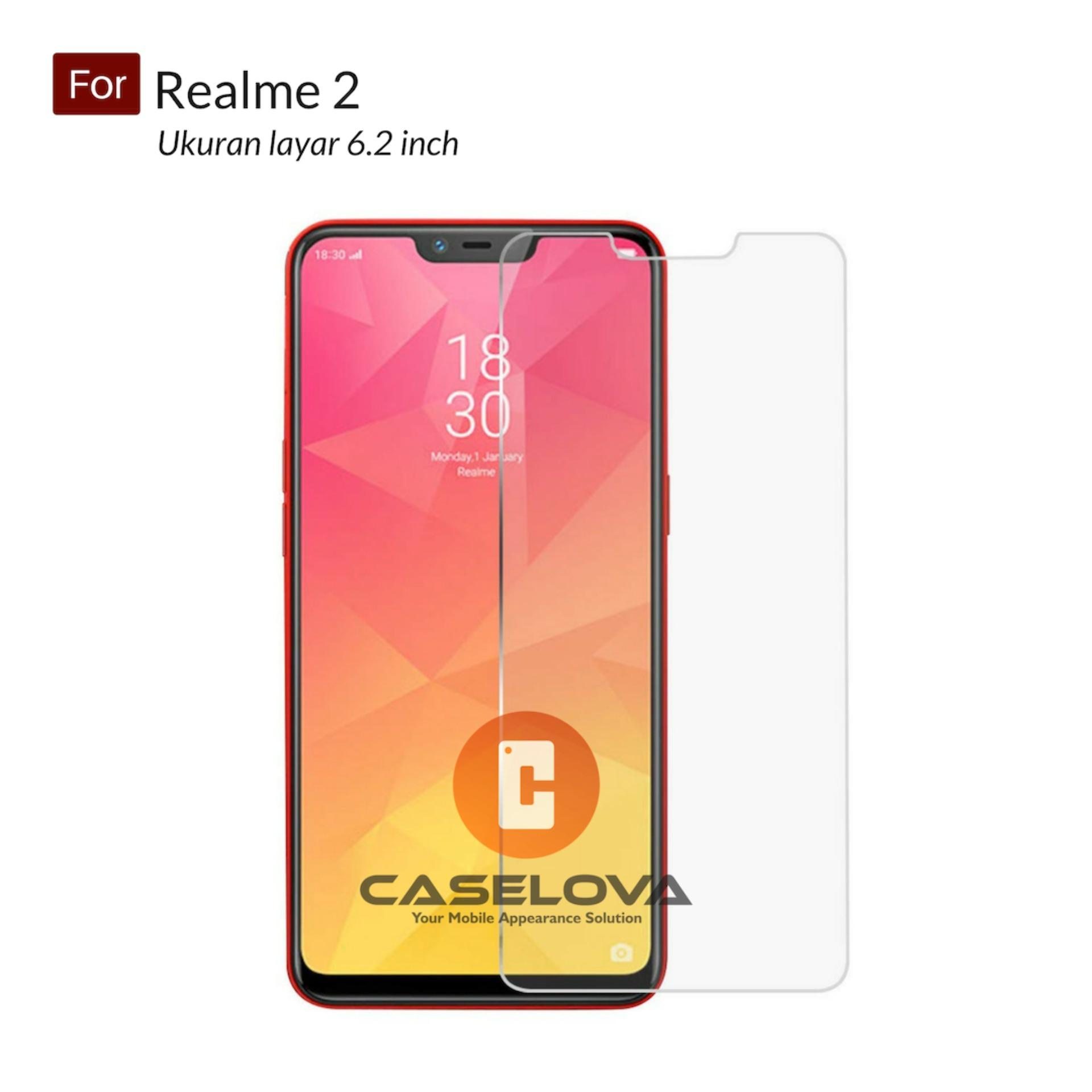 Tempered Glass Screen Protector Anti Gores Kaca Oppo Realme 2 ( 6.2 inch ) - Clear