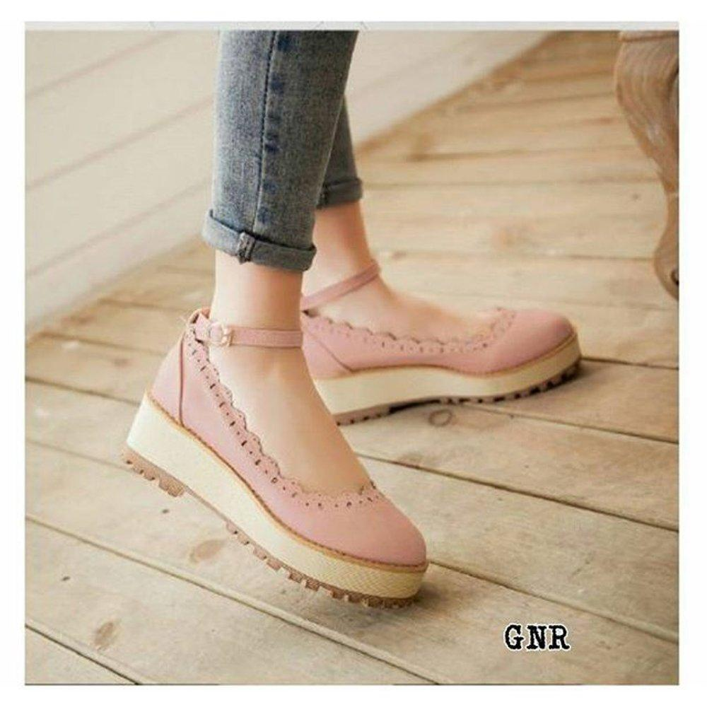 Flash Sale Wedges GNR Pink Diskon Lazada
