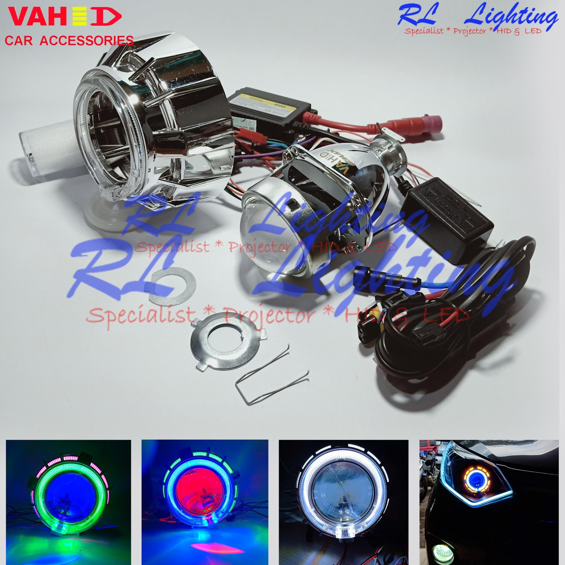 1set Projector HID Motor 35w Vahid AngeL Eyes Crystal Type G1 Lensa GMax Full Metal