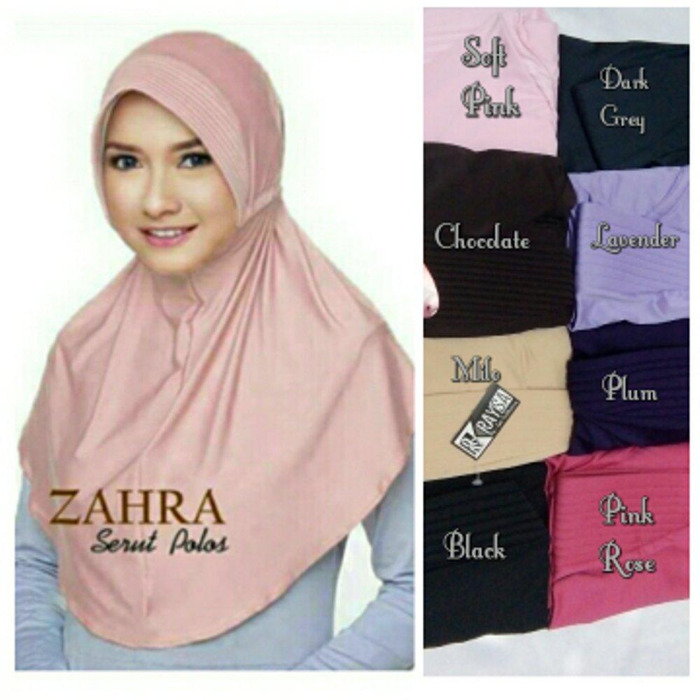 Buy Sell Cheapest Jilbab Bergo Serut Best Quality Product Deals Kaos Syari Jumbo Antem Spandek Kerudung Instan