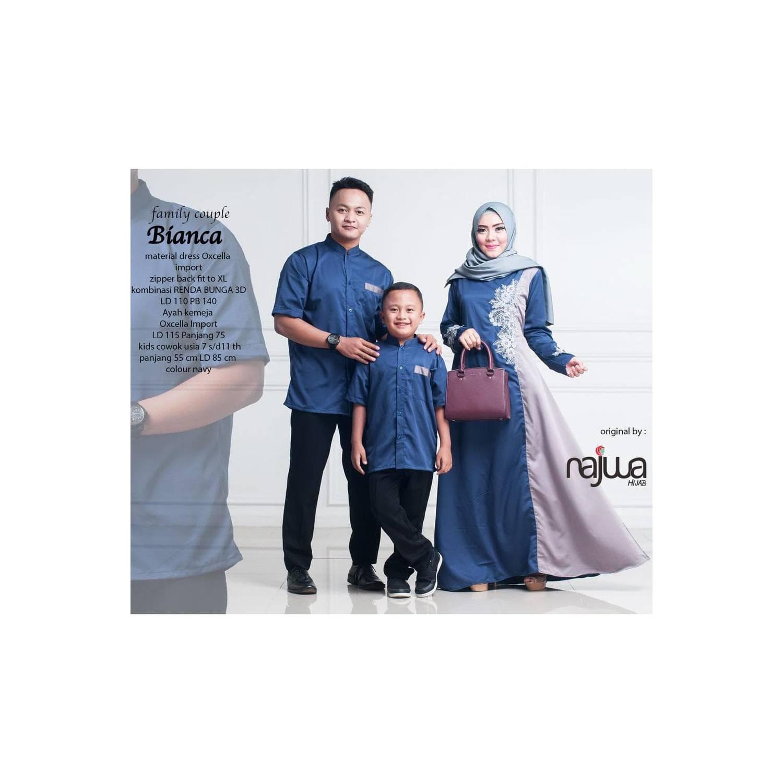 BIANCA COUPLE FAMILY baju muslim ayah ibu anak renda bunga oxcella