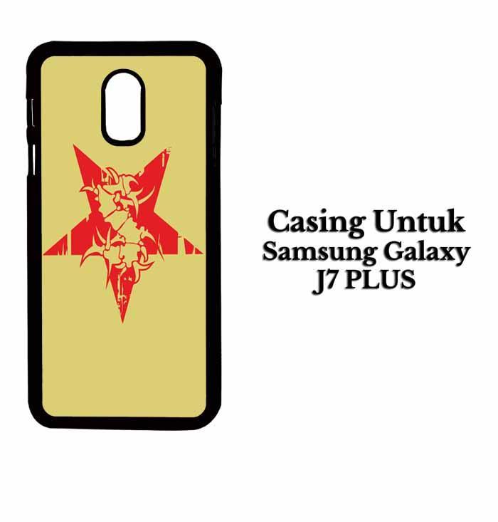 Casing SAMSUNG J7 PLUS sepultura logo Hardcase Custom Case Se7enstores