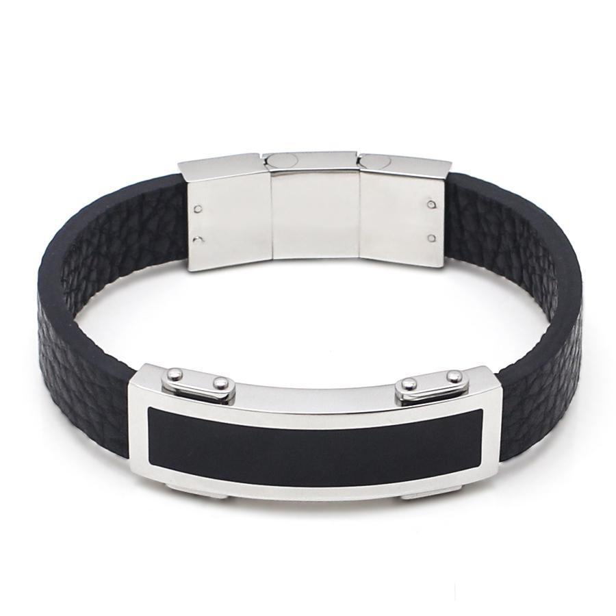 Mens Jewelry Parker Genuine Leather Men Bracelet Titanium Steel Best Tungsten Ceramic Magnetic Gelang Pria Wanita Kesehatan Harga Vernyx Perhiasan Claymore Glt6608 Hargalokacom