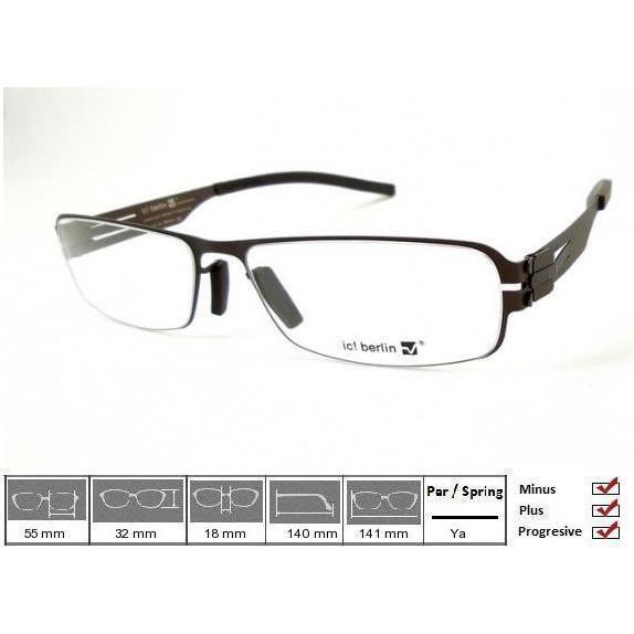 Kacamata Frame Ic! Berlin Heringsdorf Brown - Kljoep