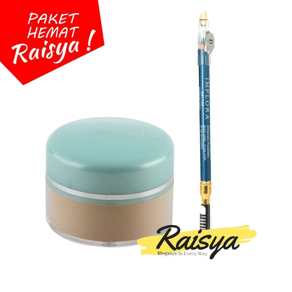 Wardah Everyday Luminous Face Powder - Bedak Tabur - 03 Ivory Free Implora Pensil Alis Biru Resmi BPOM