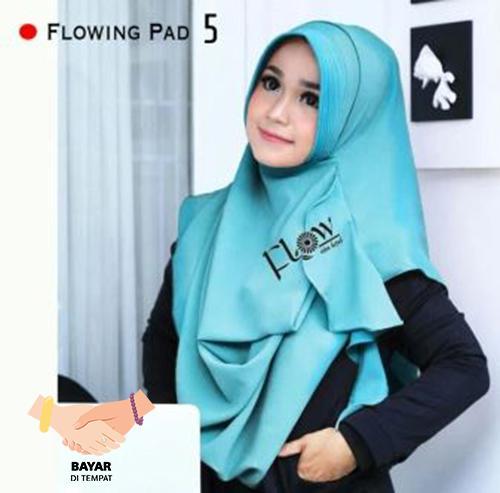 Hijab Pashmina Instan Flowing Pad - Baby Blue