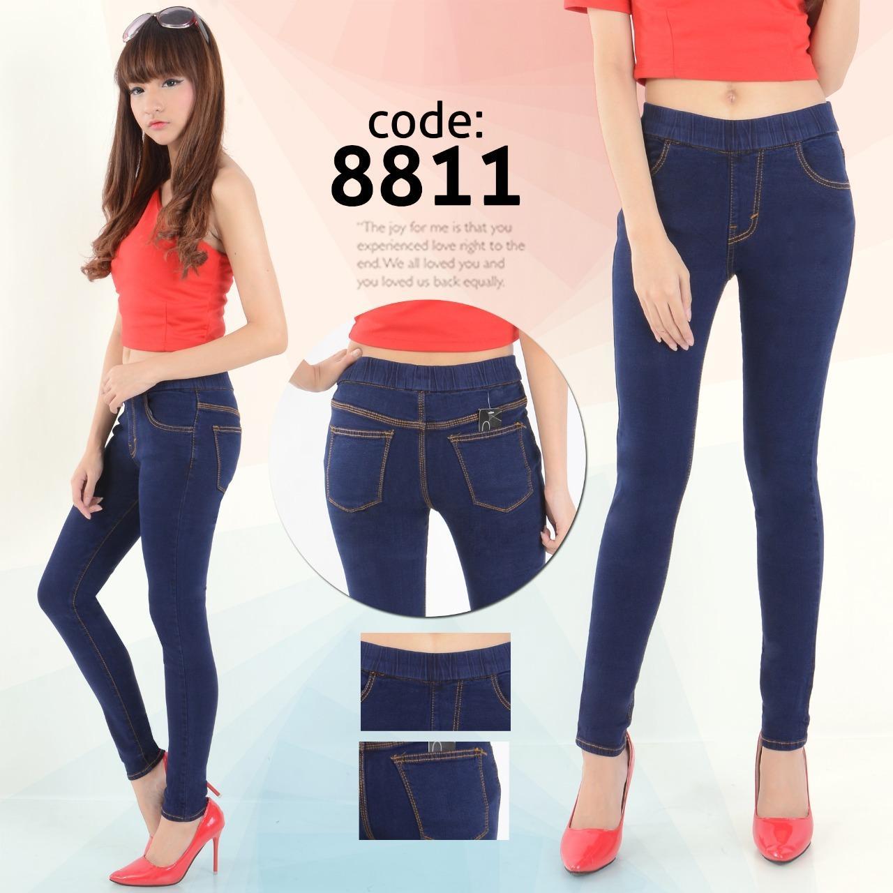 Nusantara Jeans Celana Wanita Jegging Jeans Legging Skinny Street Denim Formal Standar Berbahan Denim Celana Panjang Wanita Pendek Jumbo Kerah Sepatu Koko Motif