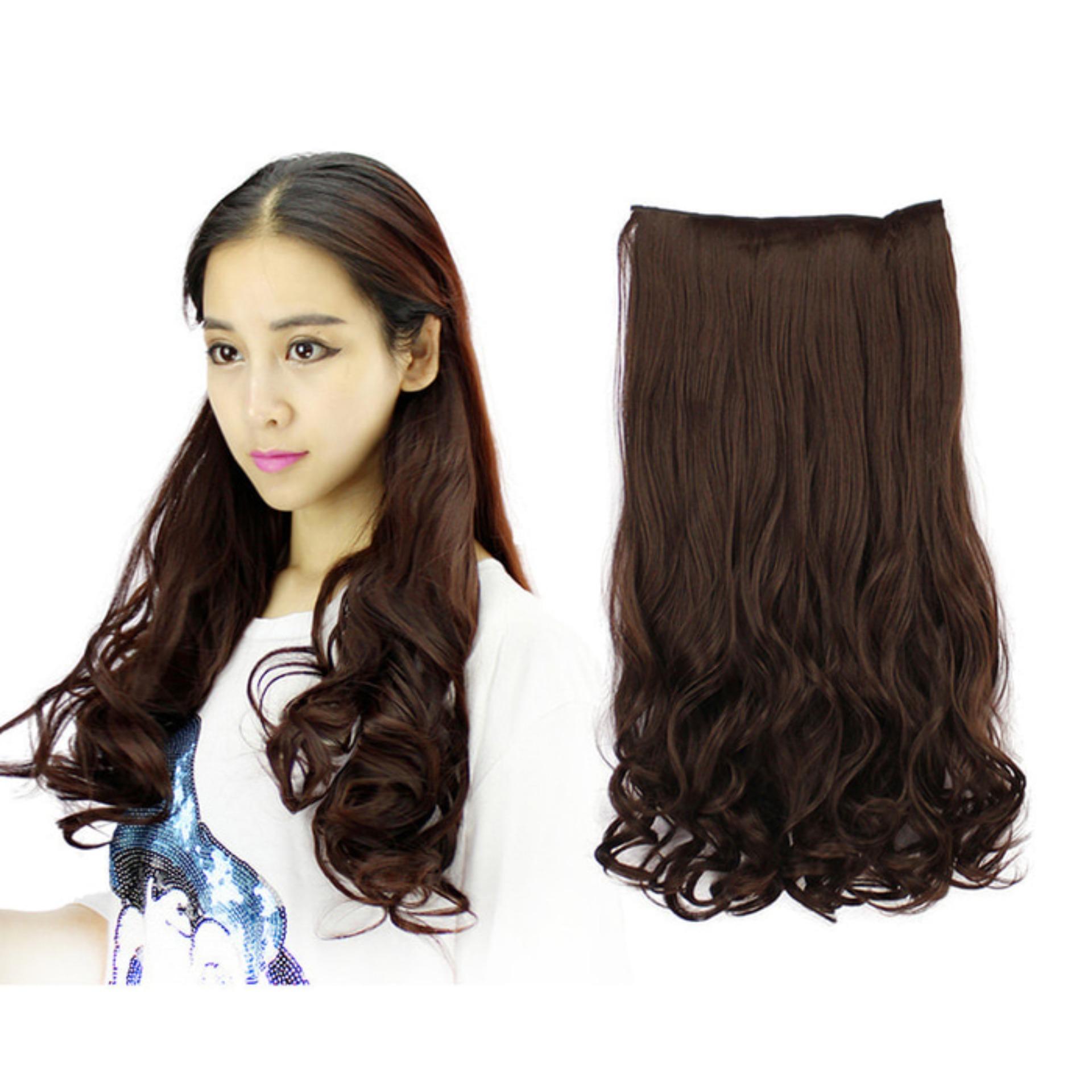 Rambut Palsu Wanita Curly Hitam Haiclip Panjang Murah