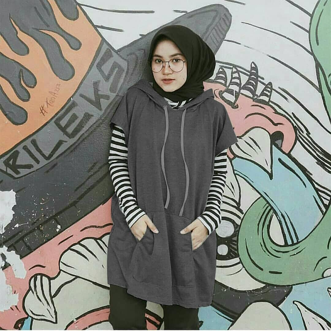Hoodie Sweater Wanita Terbaru Tendencies Black Logo Pullover Hitam Xl Sabyan Fashion Tunik