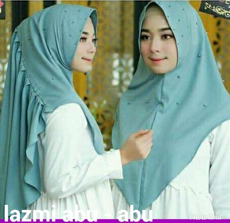 Hijab Instan Lazmy Mutiara Dusty / Jilbab Murah / Pashmina Instan / Gamis Syari / Fashion / Jilbab Terbaru
