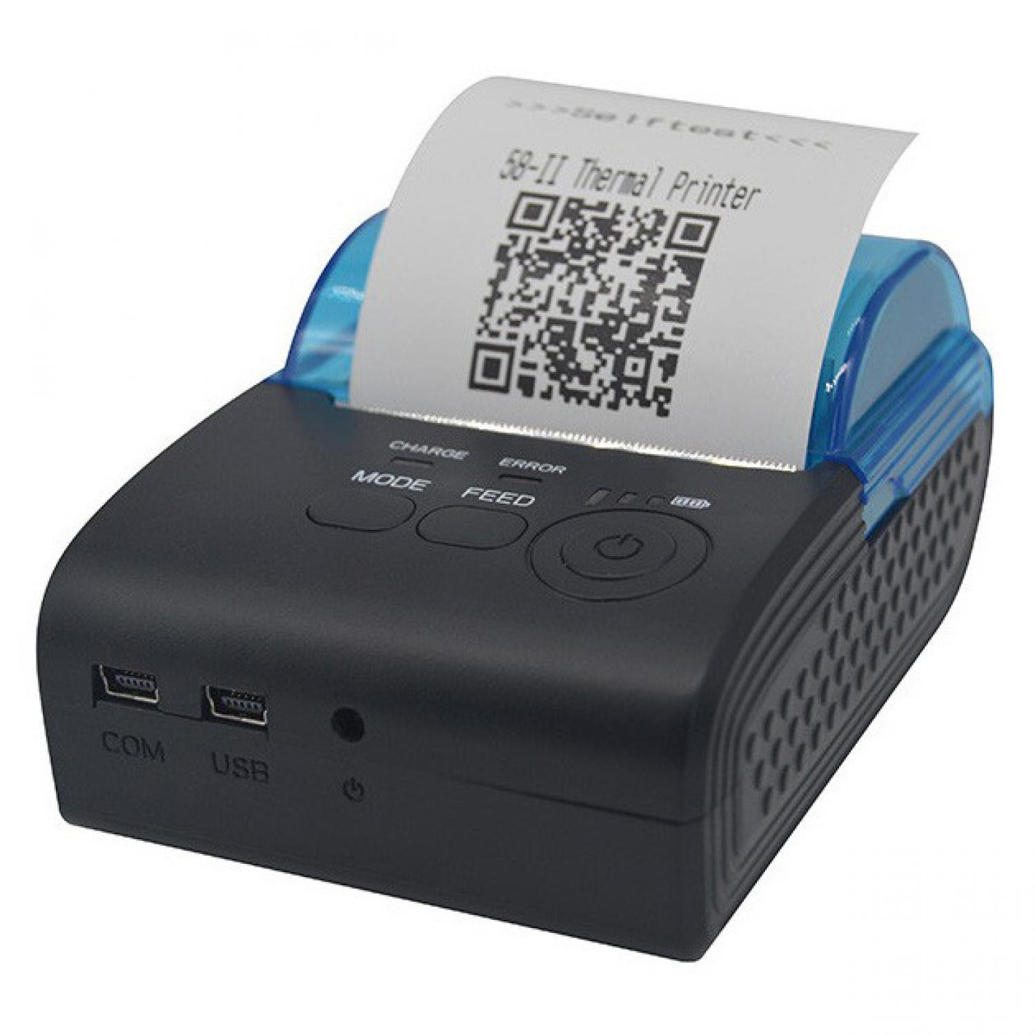 PROMO MURAH Zjiang Mini Portable Bluetooth Thermal Receipt Printer - 5805-DD Terlaris