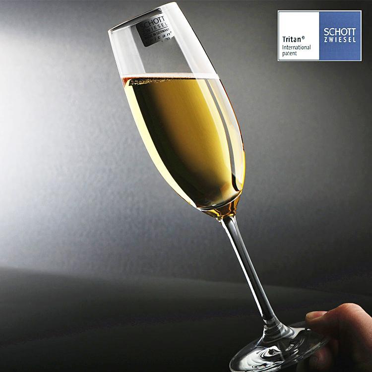 SCHOTT Gelas Sampanye Bebas Timbal Kristal Gelas Wine Tatakan Tinggi