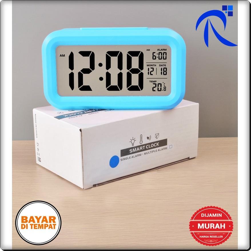 Rimas Smart Timepiece Backlight Alarm Clock JP9901-2 / Jam Alarm - White Alat multifungsi Jam mengukur temperatur udara Accents dekorasi hiasan rumah pengingat tidur canggih keren unik berkualitas terbaik FREE ONGKIR & Bisa COD.