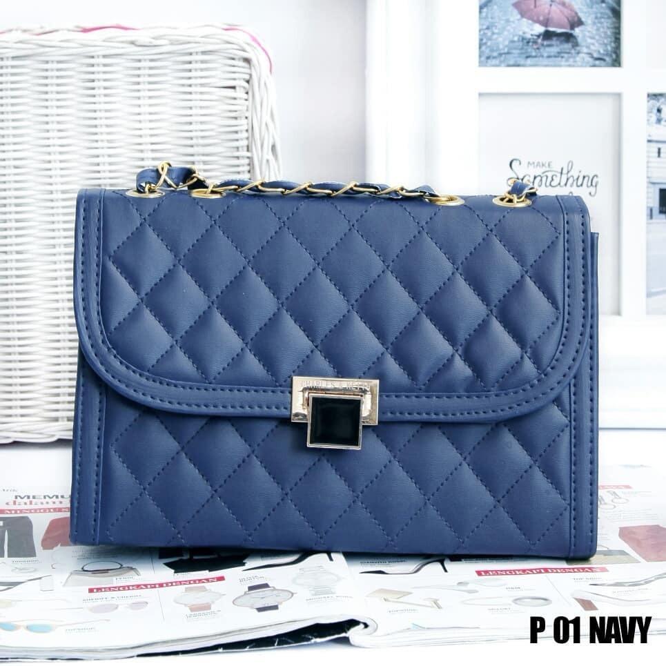 Tas Wanita Sling Bag Elegan terCantik dan terMurah - Navy