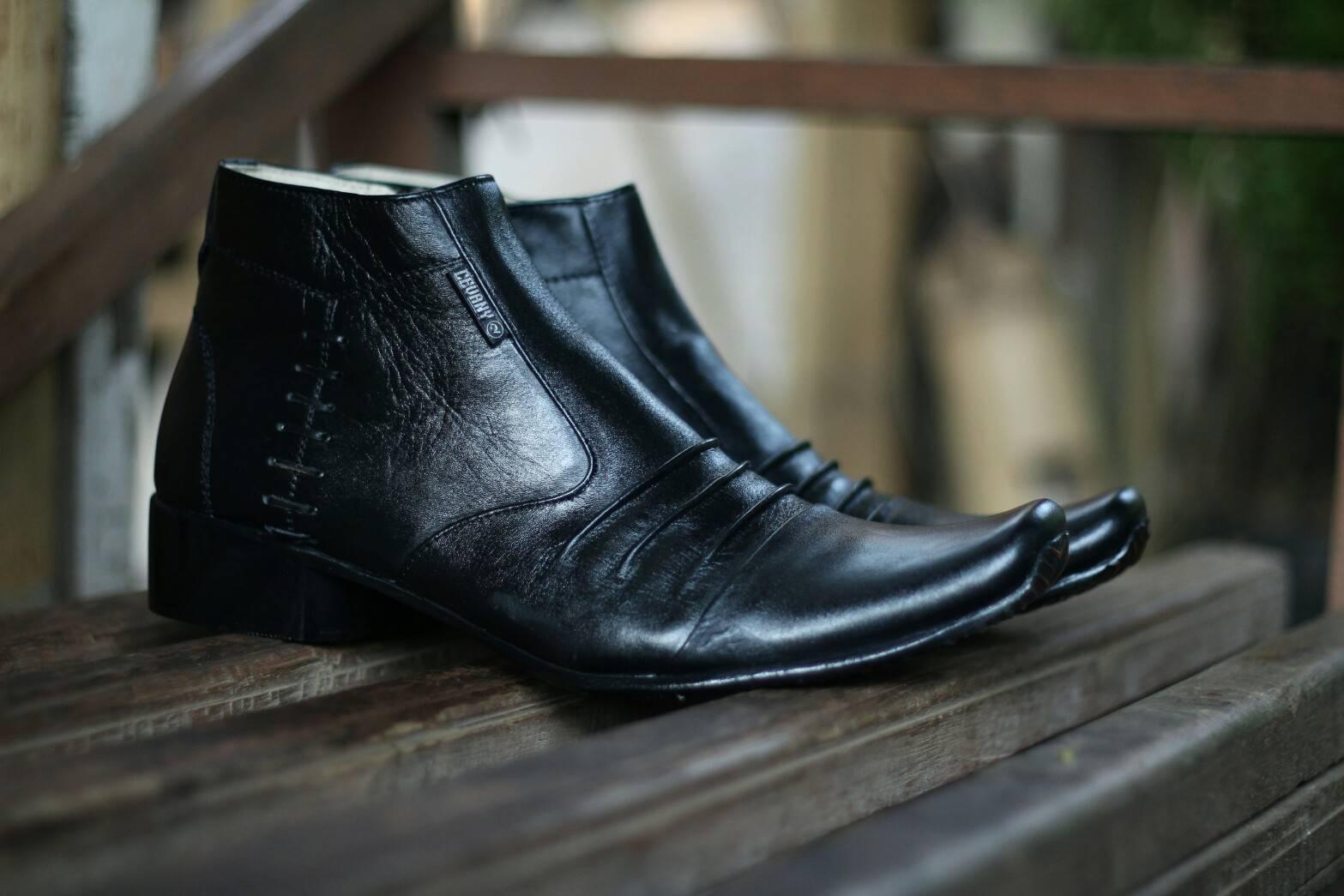 Sepatu Pantofel Pria 100% Kulit Sapi Premium untuk Kantor Kerja Pesta Cevany - Kickers - Crocodile Sepatu Kulit Pria Pantofel Formal Kerja Kantor  Sepatu Formal Pantofel Pria