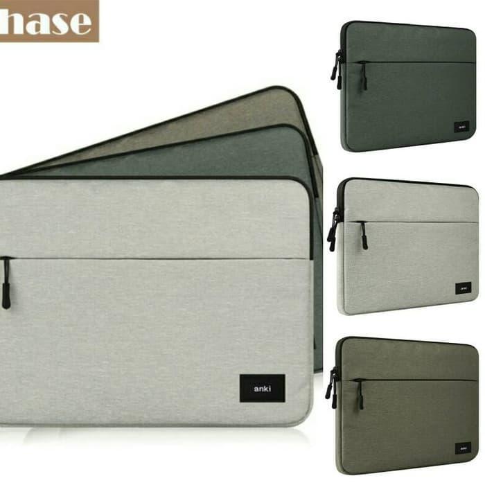 TAS LAPTOP NOTEBOOK NEW MACBOOK PRO AIR SLEEVE BAG CASE 11 12 13 14 15 - SEBELAS DGREY / Laptop