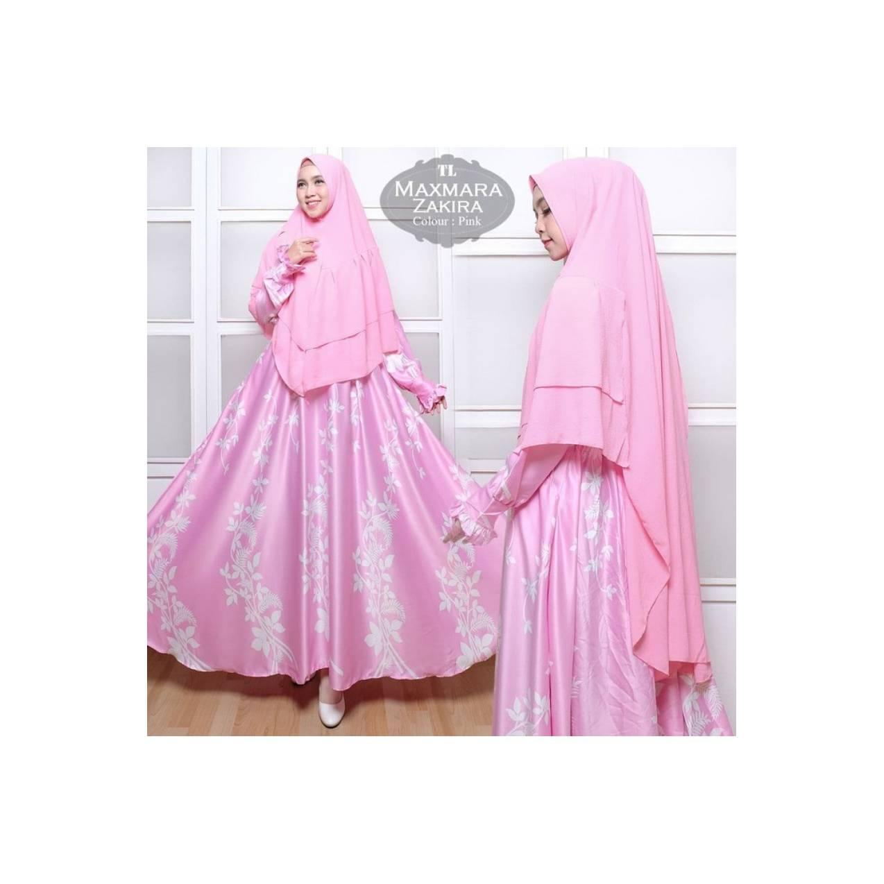 pink cokelat krem hitam gamis baju muslim pesta xxxl xxl jumbo bigsize