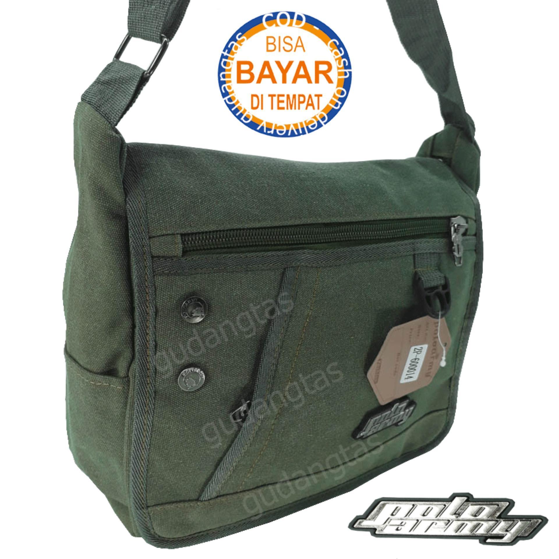 Polo Army Tas Selempang Canvas Shoulder Bag Kanvas Original Hijau