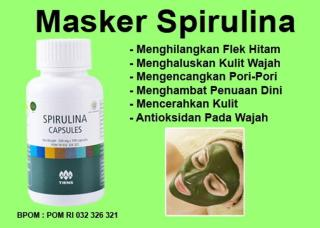 30 kapsul Masker Spirulina Herbal Alami - Masker Wajah - 30 Kapsul (ADA BPOM) (gratis kuas masker) thumbnail