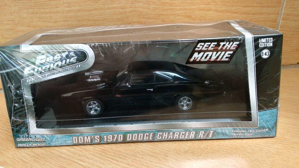 Doms Dodge Charger Solid black Fast Furious skala 43 Greenlight # Favorit Toys favorit_toys