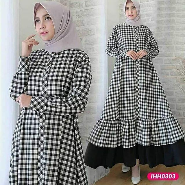 TJK Fashion KARINA Dress | Baju Gamis | Gamis Casual Terbaru