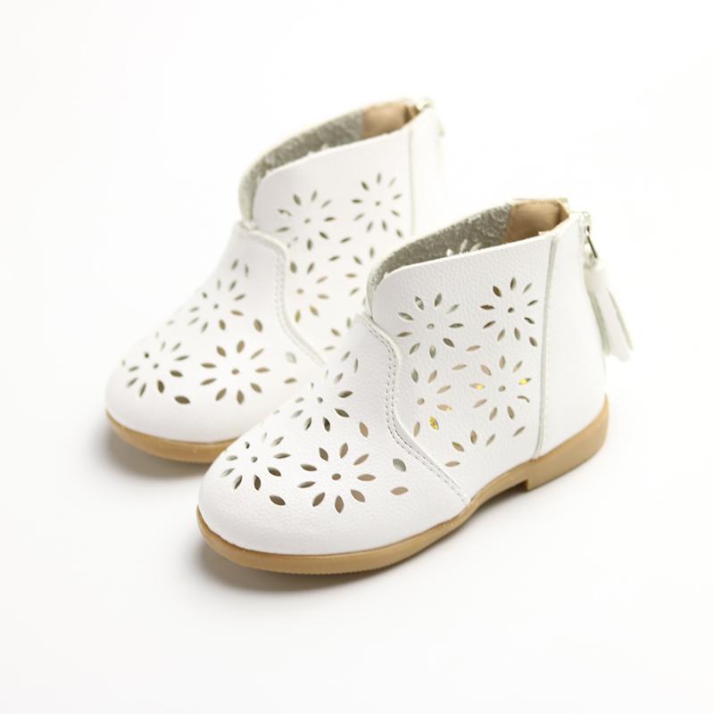Sepatu Rumbai Musim Semi dan Musim Gugur Setengah Sandal Berongga Sepatu Bot Pendek