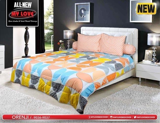 BEDCOVER SET MY LOVE ORENJI No.1 KING 180 T30 BCS BED COVER POLKA DOT Exclusive