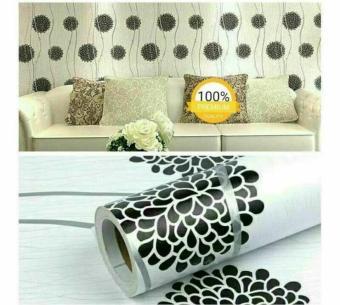 Price Checker Wallpaper Stiker Dinding Motif Dan Karakter Premium Quality Size 45cm X 10M Bunga Dandelion Hitam pencari harga - Hanya Rp37.535
