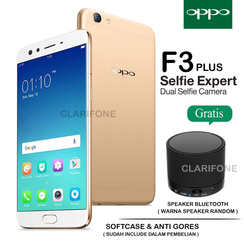 OPPO F3 PLUS - 4GB/64GB - GARANSI RESMI - GOLD