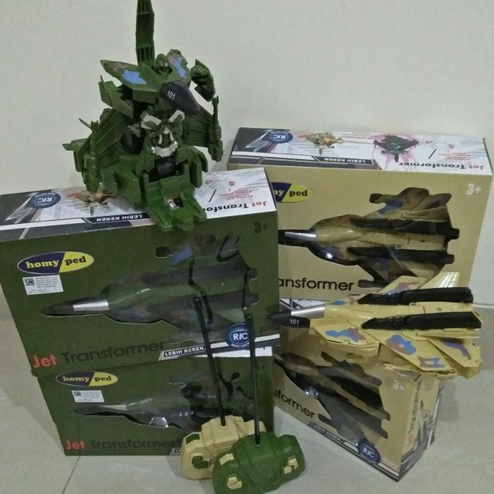 Jet Transformer Radio Control - mainan sepatu homyped